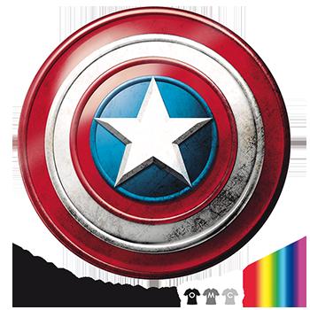 Diseño escudo capitán américa