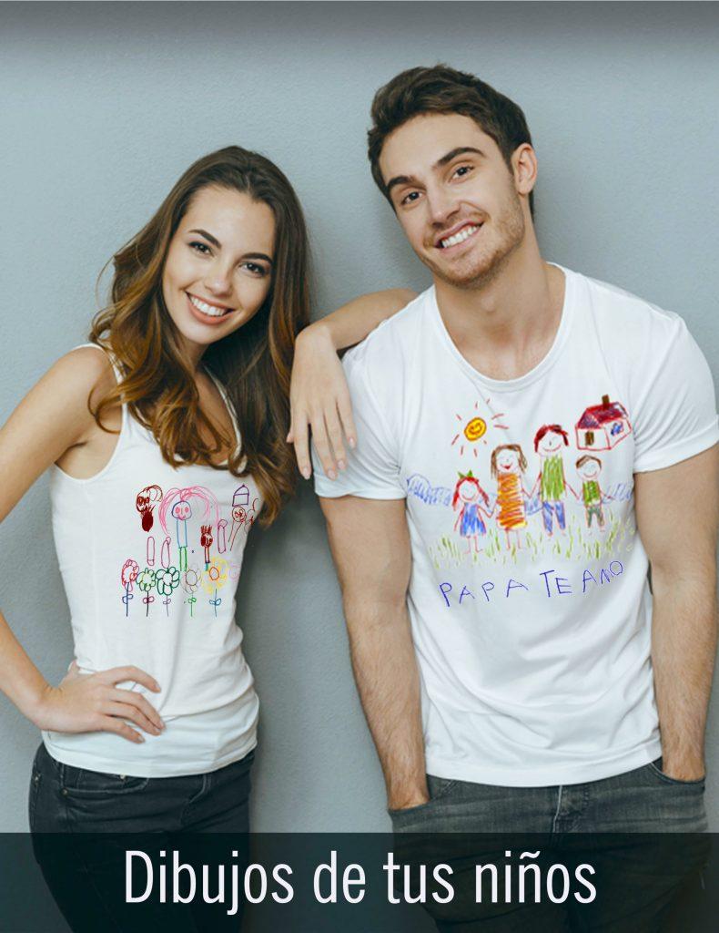 Camisetas personalizadas con dibujos de los niños